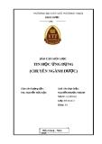 Báo cáo môn học tin học ứng dụng (Chuyên ngành dược)
