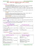 Giáo án Toán 11: Chương 1 - Phương trình lượng giác cơ bản (1)