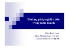 Bài giảng phương pháp nghiên cứu trong kinh doanh - Đào Hoài Nam