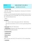 Trả bài viết số 3:  Giáo án điện tử tuần 15 - Ngữ văn lớp 12