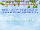 Bài giảng Đại số 9 chương 2 bài 2: Hàm số bậc nhất
