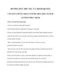 Hướng dẫn thủ tục và thẩm quyền cấp giấy chứng nhận cơ sở đủ điều kiện vệ sinh an toàn thực phẩm