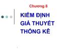 Bài giảng nghiên cứu marketing: Chương 8.Kiểm định giả thuyết thống kê - GV. Dư Thị Chung