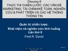 Bài giảng môn quản trị chiến lược: Chương 8. Thực thi chiến lược: Các vấn đề Marketing, tài chính/ kế toán, nghiên cứu và phát triển các hệ thống thông tin -  Th.S Hoàng Giang