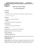 Giáo án Giải tích 12 chương 1 bài 5: Khảo sát sự biến thiên và vẽ đồ thị hàm số