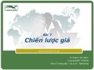 Marketing căn bản -  Đinh Tiên Minh ( bài 7)