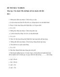 Đề thi trắc nghiệm môn Tài chính Tiền tệ(Định chế tài chính) đề 2
