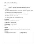 Giáo án Hình học 9 chương 4 bài 3: Hình cầu-Diện tích mặt cầu và thể tích hình cầu