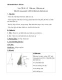 Giáo án Hình học 9 chương 4 bài 2: Hình nón-Hình nón cụt-Diện tích xung quanh và thể tích của hình nón, hình nón cụt