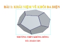 Bài giảng Hình học 12 chương 1 bài 1: Khái niệm khối đa diện
