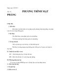 Giáo án bài Phương trình mặt phẳng - Hình học 12 - GV:L.N.Mưa