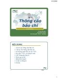 Bài giảng Quan hệ Công chúng Bài 3: Thông cáo báo chí - Th.S. Đinh Tiên Minh