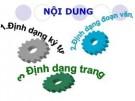 Các thao tác định dạng văn bản trong word 2007