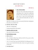 Ngữ văn lớp 11 tuần 23: Đây thôn Vĩ Dạ - Hàn Mặc Tử - Giáo án
