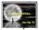 Bài giảng Ngữ văn 11 tuần 23 bài: Đây thôn Vĩ Dạ - Hàn Mặc Tử