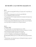 7 bộ đề thi Luật thương mại quốc tế