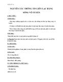 Giáo án bài 23: Nguyên tắc thông tin liên lạc bằng sóng vô tuyến – Lý 12 - GV.N.V.Cường