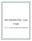 Giáo trình kinh tế học công cộng (Joseph E. Stiglitz)   Chương 7: Sản xuất công cộng và bộ máy hành chính