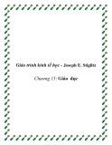 Giáo trình kinh tế học công cộng (Joseph E. Stiglitz) Chương 15: Giáo dục