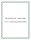 Giáo trình kinh tế học công cộng (Joseph E. Stiglitz) Chương 18: Thuế và hiệu quả kinh tế tiêu dung