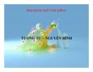 Bài giảng Ngữ văn 11 tuần 24 bài: Tương tư - Nguyễn Bính