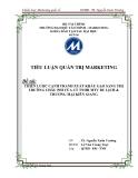 Tiểu luận: Chiến lược cạnh tranh xuất khẩu gạo sang thị trường châu phi của Công ty TNHH MTN du lịch & thương mại Kiên Giang