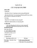 Giáo án bài 26: Các loại quang phổ - Môn Vật lý 12 - GV.Đ.T.Bằng