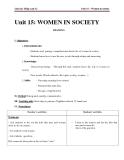 Bài 15: Women in the society - Giáo án Tiếng Anh 12 - GV.Võ Trường An