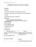 Giáo án bài 27: Tia hồng ngoại và Tia tử ngoại – Môn Vật lý 12 - GV.M.Trinh
