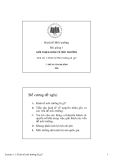 Bài giảng kinh tế môi trường: Giới thiệu kinh tế học môi trường - Phùng Thanh Bình