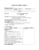 Giáo án unit 9: The post office - Tiếng Anh 11 - GV.Hoàng Ngọc Quyên