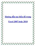 Các hướng dẫn tạo biểu đồ trong Excel 2007 hoặc 2010