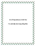 [Gr] Präpositionen (Giới Từ) Và cách đặt câu trong tiếng Đức