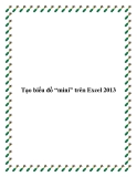 """Tạo biểu đồ """"mini"""" trên Excel 2013"""