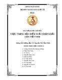Bài thảo luận chủ đề 9: Thực trạng bảo hiểm  xuất nhập khẩu của Việt Nam