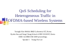 QoS Scheduling for Heterogeneous Traffic in OFDMA-based Wireless Systems