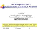OFDM Physical Layer - Fundamentals, Standards, & Advances