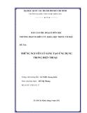 Tiểu luận:NHỮNG NGUYÊN LÝ SÁNG TẠO ỨNG DỤNG TRONG ĐIỆN THOẠI