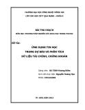 Tiểu luận:ỨNG DỤNG TIN HỌC TRONG DỰ BÁO VÀ PHÂN TÍCH DỮ LIỆU TÀI CHÍNH, CHỨNG KHOÁN