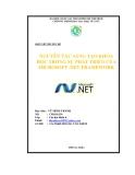 Tiểu luận:NGUYÊN TẮC SÁNG TẠO KHOA HỌC TRONG SỰ PHÁT TRIỂN CỦA MICROSOFT .NET FRAMEWORK