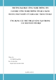 Tiểu luận:Ứng dụng các thủ thuật sáng tạo trong các bài toán tin học