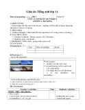 Giáo án Tiếng Anh 11 bài 11: Sources of energy - GV.Lê Hồng Phúc