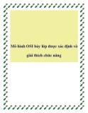 Mô hình OSI bảy lớp được xác định và giải thích chức năng