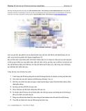 Photoshop CS - Chương 14: Sắp xếp các đối tượng lớp trong ImageReady