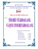 Đề tài: Tìm hiểu về khoai lang và quá trình sản xuất tinh bột khoai lang - Trường ĐH Công nghiệp thành phố HCM