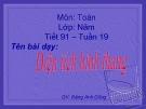 Bài giảng Toán 5 chương 3 bài 4: Diện tích hình thang
