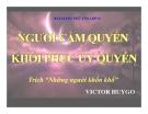 Bài giảng tuần 28 - Ngữ văn 11: Người cầm quyền khôi phục uy quyền