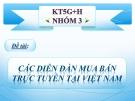 Các diễn đàn mua bán tại Việt Nam