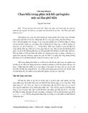 Lâm sàng thống kê: Bài 8. Chọn biến trong phân tích hồi quy logistic : một sai lầm phổ biến - Nguyễn Văn Tuấn