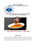 Tiểu luận: Thực phẩm lên men từ cá - Nước mắm